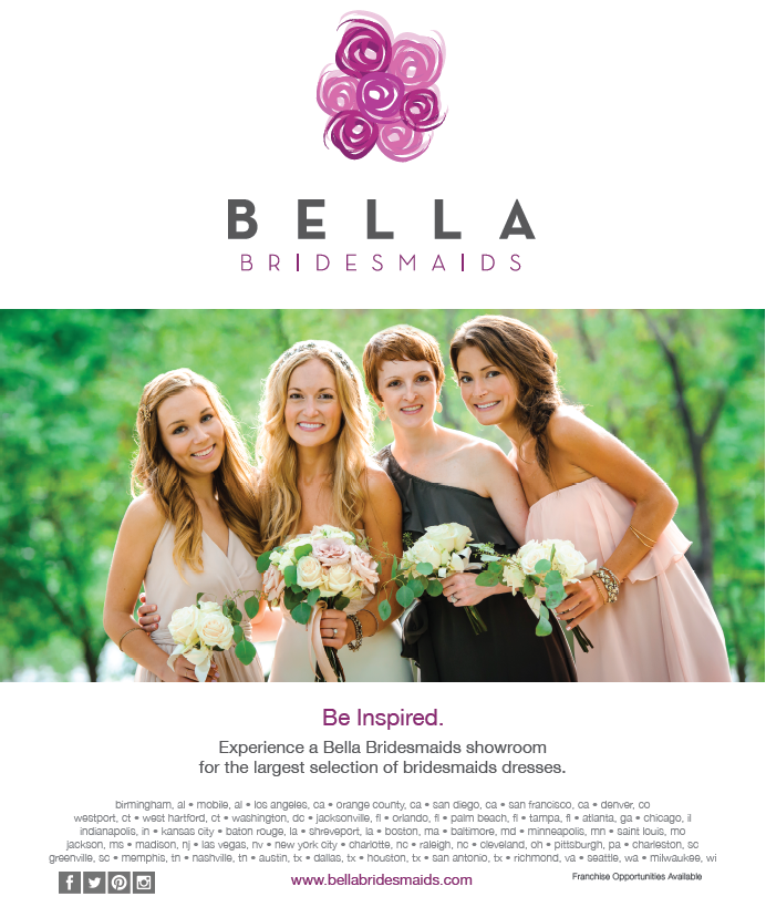 Bella Bridesmaids Real Weddings Spring 2014